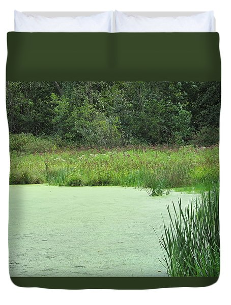 Duvet Cover featuring the photograph Green Moss by Tina M Wenger