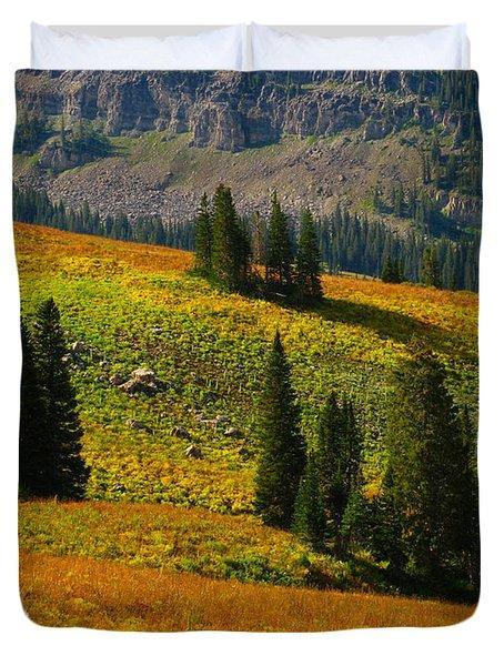 Green Mountain Trail Duvet Cover by Raymond Salani III