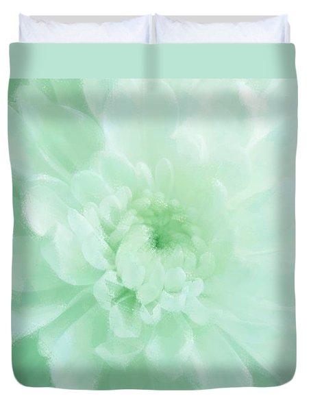 Green Mum Luminous Painted Blossom Duvet Cover