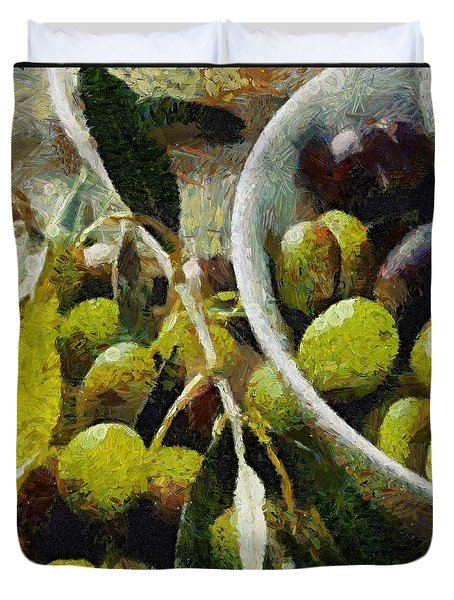 Green Olives Duvet Cover by Dragica  Micki Fortuna
