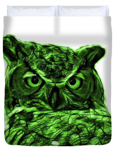 Green Owl 4436 - F S M Duvet Cover