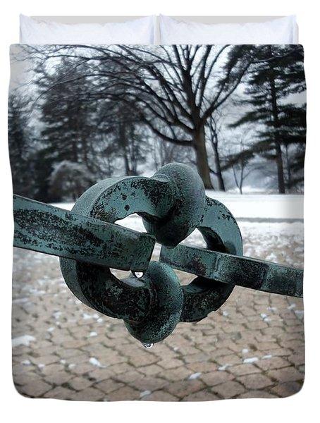 Green Patina Duvet Cover by Michael Porchik