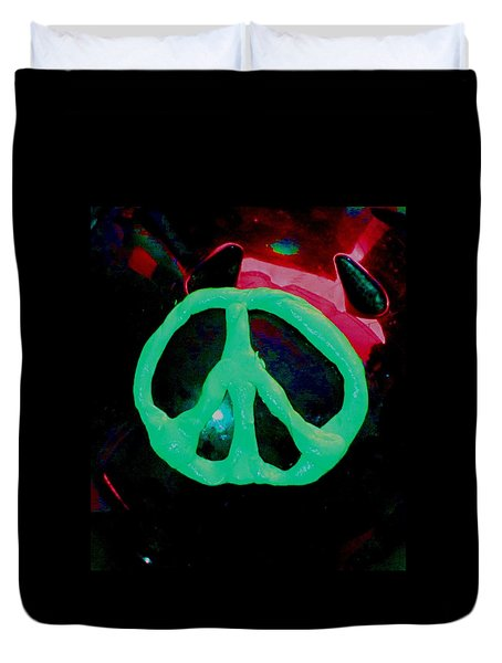 Peace Symbol Duvet Cover