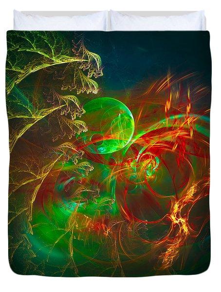 Green Pearl Duvet Cover