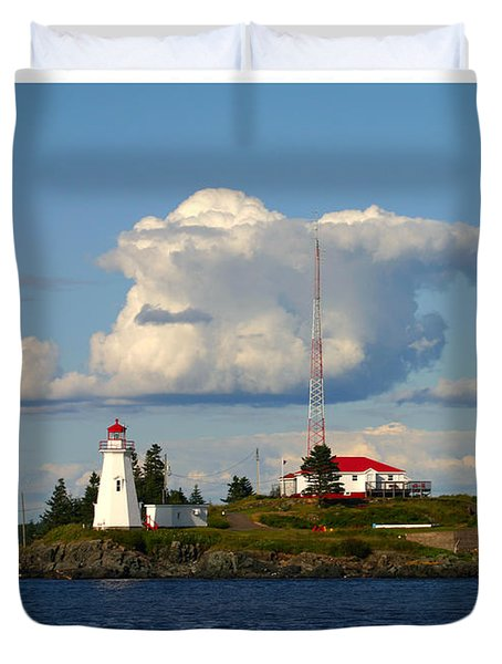 Green Point And Keepers Cottage Duvet Cover