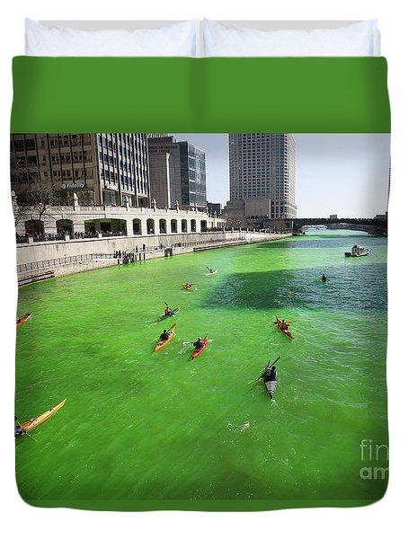 Green River Chicago Duvet Cover by Martin Konopacki