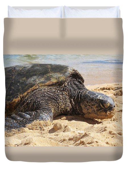 Green Sea Turtle 2 - Kauai Duvet Cover