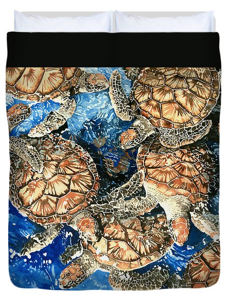 Green Sea Turtles Duvet Cover
