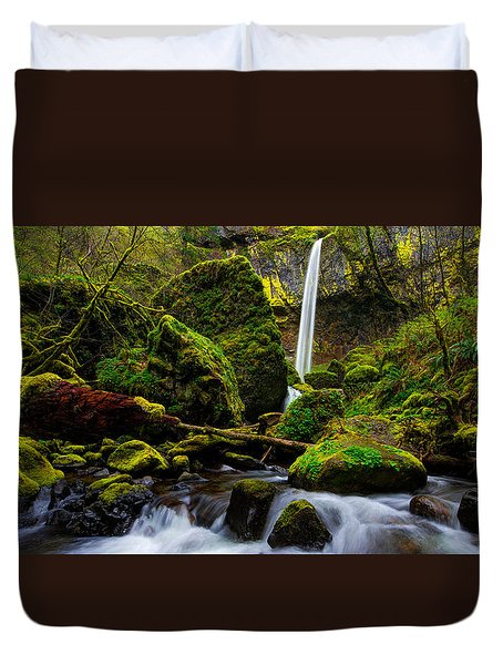 Green Seasons Duvet Cover by Chad Dutson