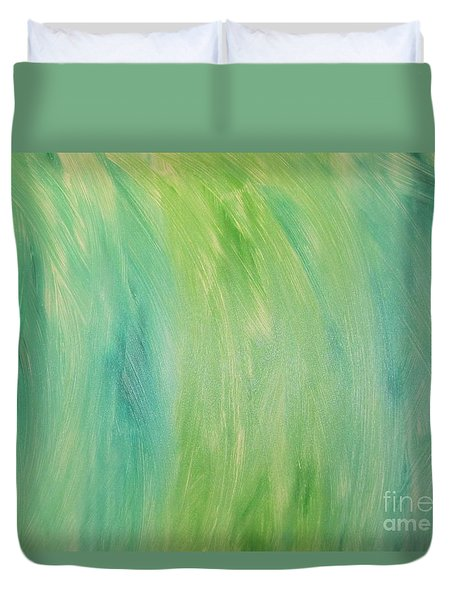 Green Shades Duvet Cover