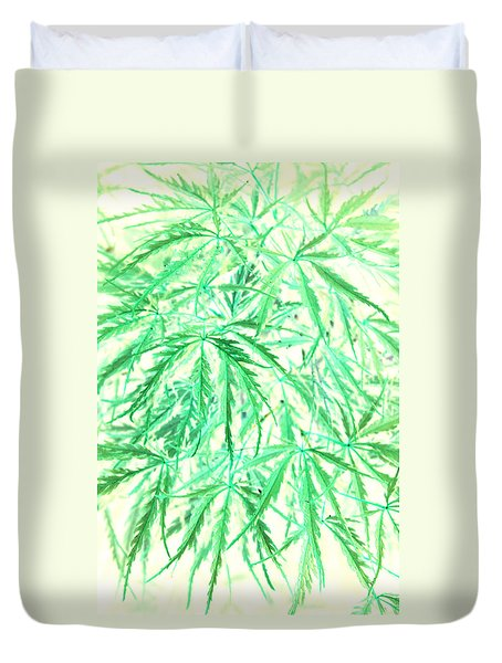 Duvet Cover featuring the photograph Green Splender by Jamie Lynn