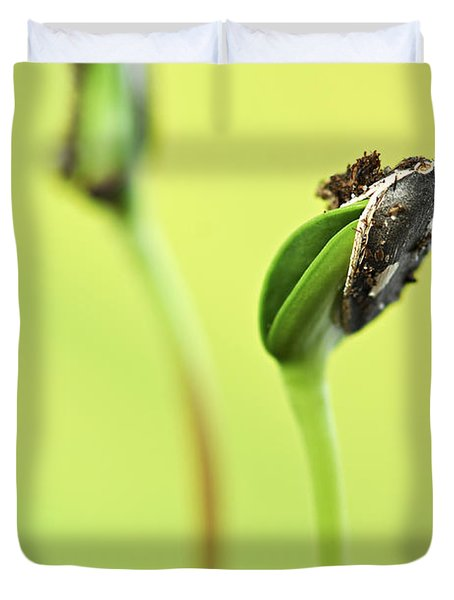 Green Sprouts Duvet Cover by Elena Elisseeva
