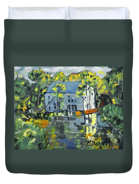 Green Township Mill House Duvet Cover by Michael Daniels