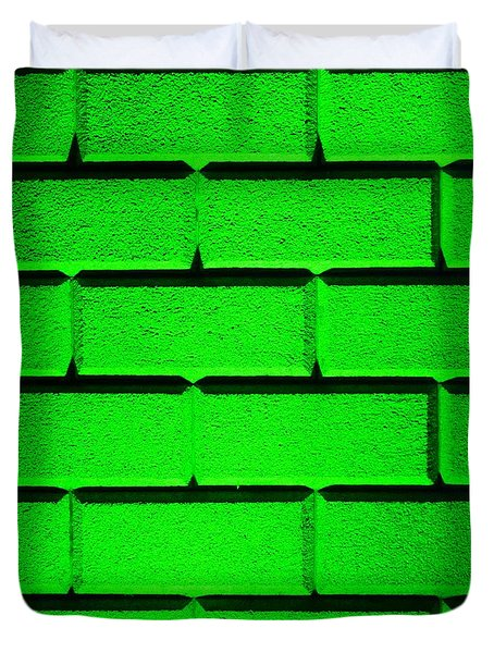 Green Wall Duvet Cover by Semmick Photo