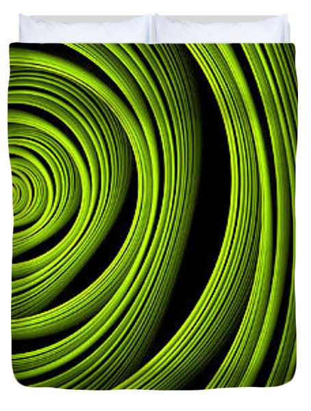 Duvet Cover featuring the digital art Green Wellness by Gabiw Art