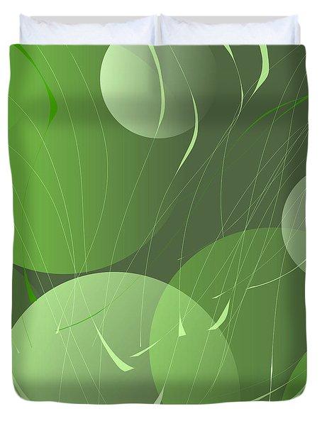 Green Whimsy Duvet Cover