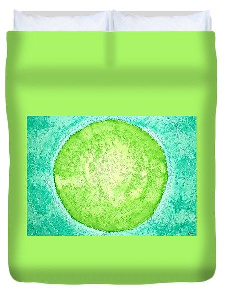 Green World Original Painting Duvet Cover