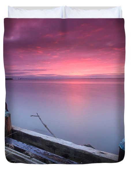 Greenbury Point Sunrise Duvet Cover