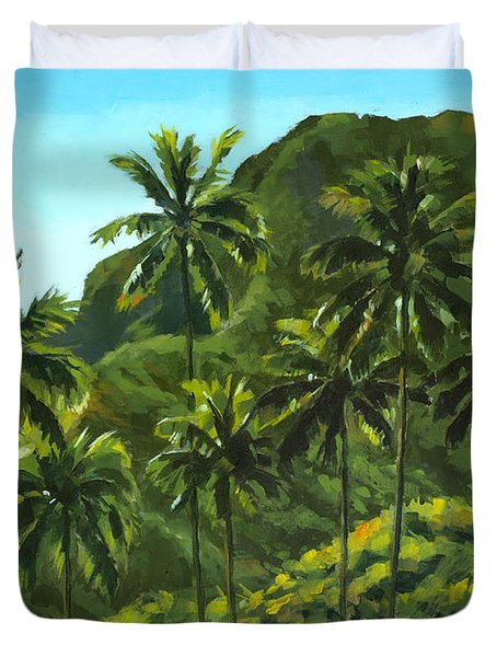 Greens Of Kahana Duvet Cover