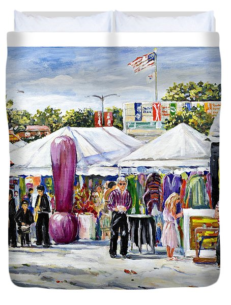 Greenwich Art Fair Duvet Cover