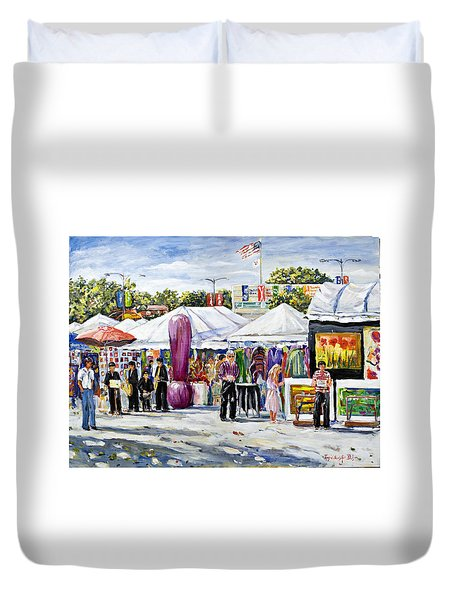 Greenwich Art Fair Duvet Cover