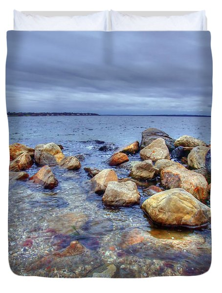 Duvet Cover featuring the photograph Greenwich Bay by Alex Grichenko