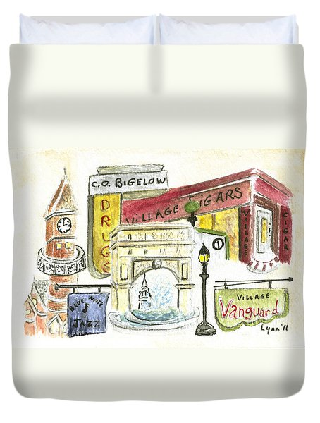 Greenwich Village Collage Duvet Cover by AFineLyne
