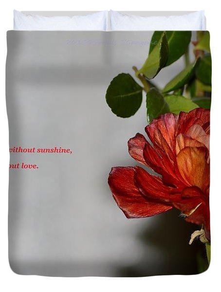 Greeting Of Love Duvet Cover by Sonali Gangane