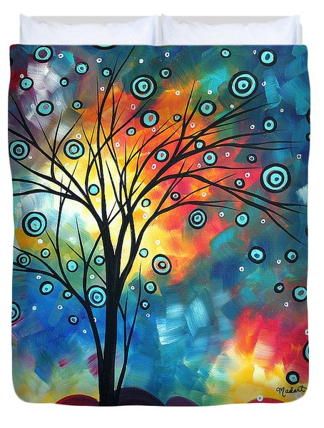 Greeting The Dawn By Madart Duvet Cover by Megan Duncanson