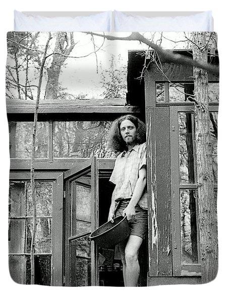 Greg's Solar Home 1979 Duvet Cover by Ed Weidman