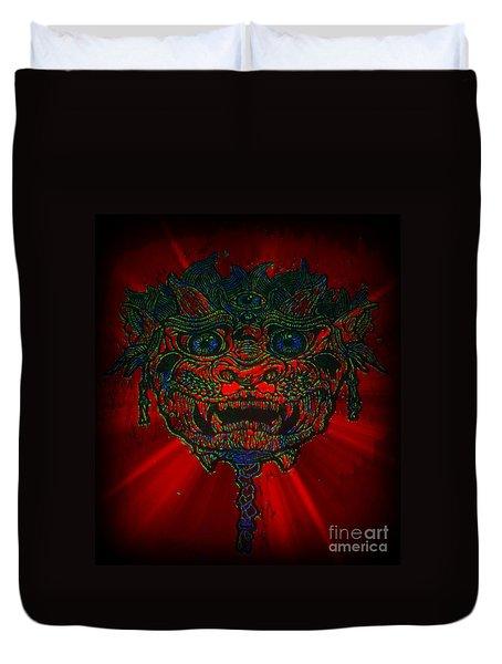 Gremlin In Dynamic Color Duvet Cover