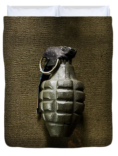 Grenade Duvet Cover by Margie Hurwich