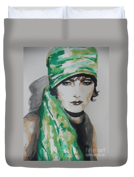 Greta Garbo Duvet Cover by Chrisann Ellis