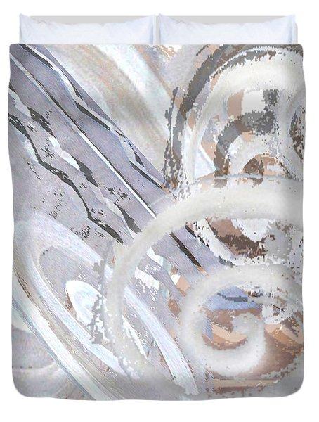Grey Abstraction 3 Duvet Cover by Eva-Maria Becker