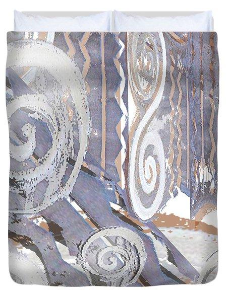 Grey Abstraction 4 Duvet Cover by Eva-Maria Becker