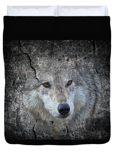 Grey Stone Duvet Cover by Athena Mckinzie