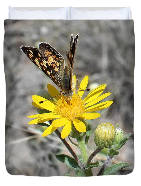 Greyed Butterfly Duvet Cover