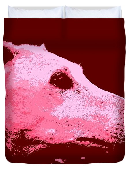 Greyhound Profile Duvet Cover by Clare Bevan