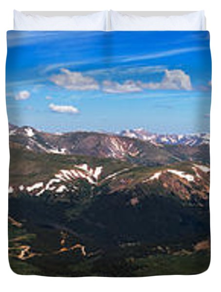 Greys And Torreys Pano Duvet Cover