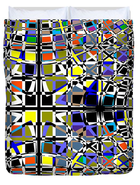 Grid Duvet Cover by Barbara Moignard