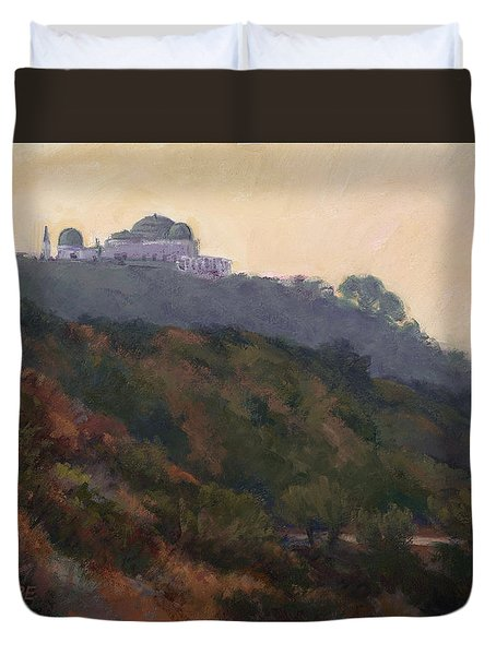 Griffith Park Observatory- Late Morning Duvet Cover
