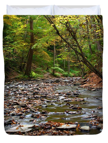 Creek Walk Duvet Cover by Richard Engelbrecht