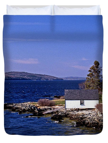 Grindel Point Lighthouse Duvet Cover by Skip Willits