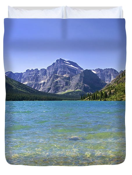 Grinnel Lake Glacier National Park Duvet Cover by Rich Franco