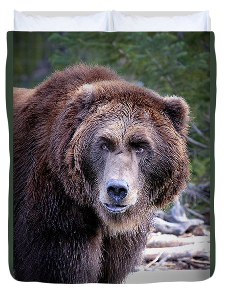Grizzly Duvet Cover by Athena Mckinzie