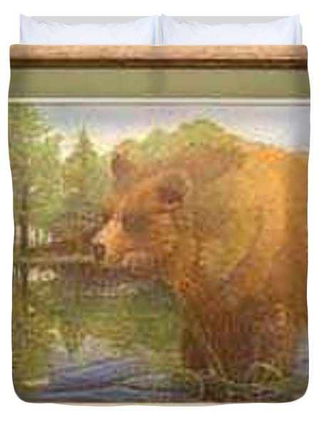 Grizzly Duvet Cover by Rick Huotari