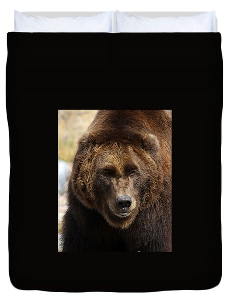 Grizzly Duvet Cover by Steve McKinzie