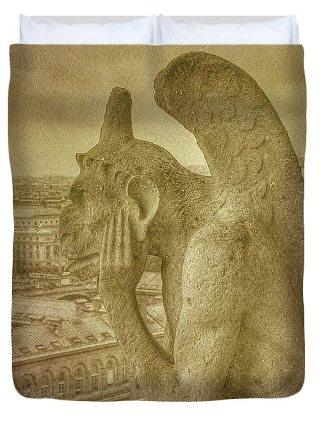Grotesque From Notre Dame Duvet Cover