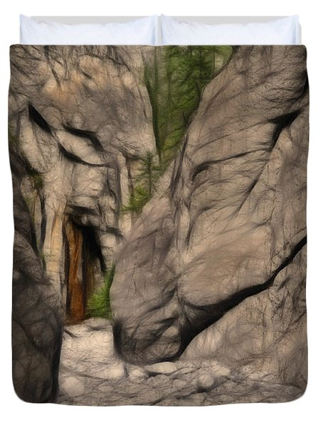 Grotto Canyon Fractal Duvet Cover