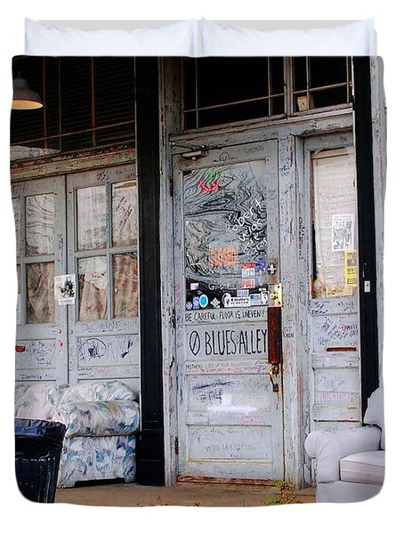 Ground Zero Clarksdale Mississippi Duvet Cover by Lizi Beard-Ward
